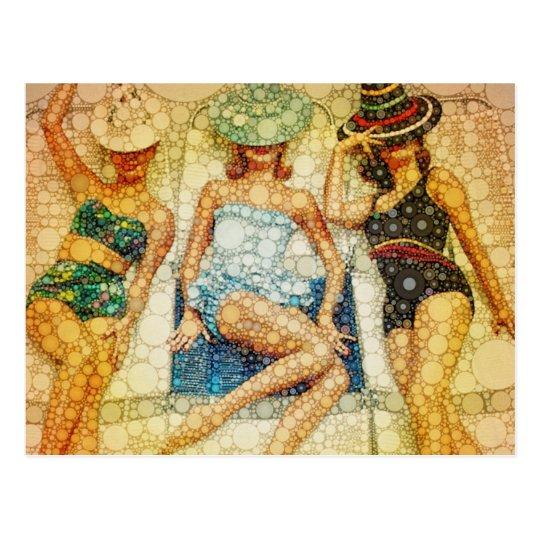 Baño de bellezas postal