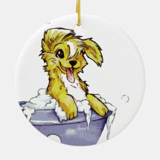 Baño de burbujas del perrito ornamentos de reyes magos