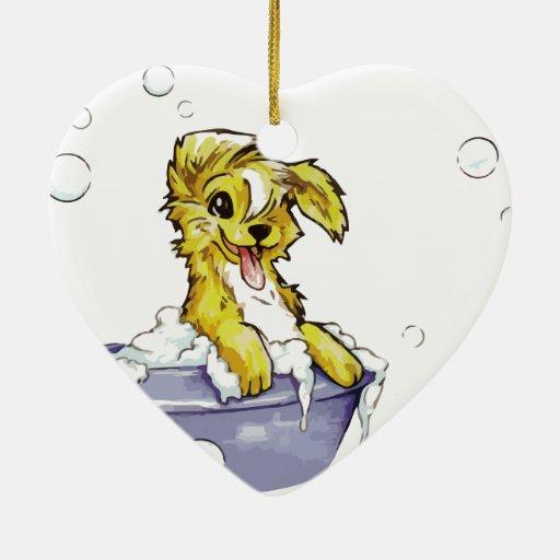 Baño de burbujas del perrito ornamentos de reyes