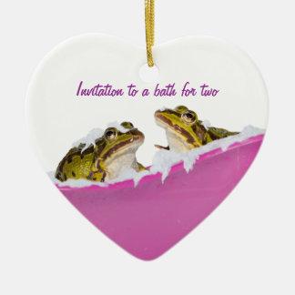 Baño de burbujas para las ranas del mascota ornamentos para reyes magos