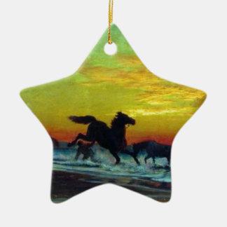 Baño de caballos de Volodymyr Orlovsky Adorno De Cerámica En Forma De Estrella