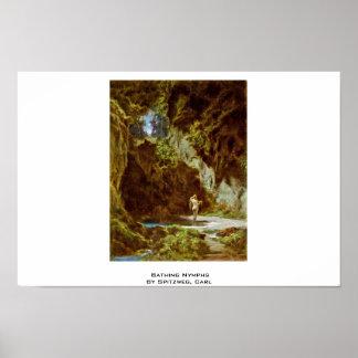 Baño de la ninfa de Spitzweg Carl Impresiones
