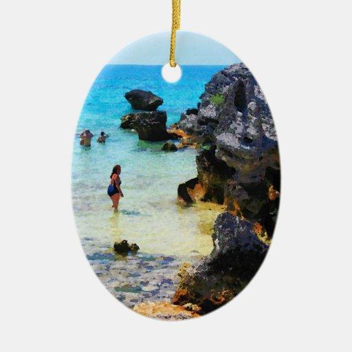 Baño en el océano San Jorge Bermudas Ornato