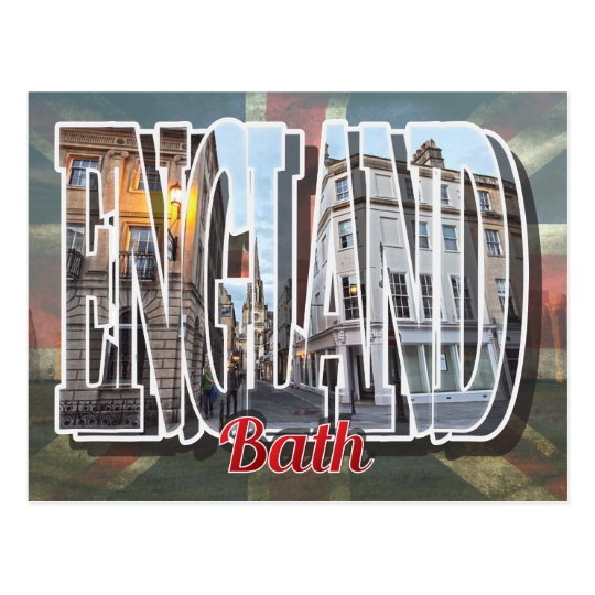 Baño, postal de Inglaterra