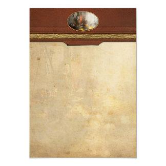 Banquero - digno de su peso en oro invitación 12,7 x 17,8 cm
