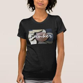 Banquero en negro del vintage camisetas