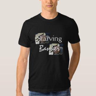 Banquero muerto de hambre en negro camisas