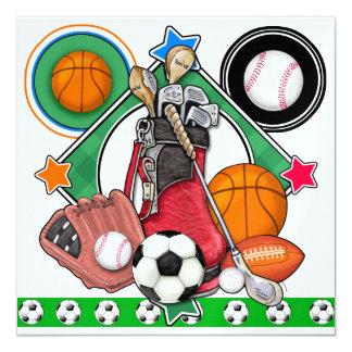 Banquete/acontecimiento de los deportes de All Invitación 13,3 Cm X 13,3cm