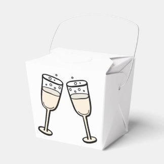 Banquete de boda blanco y negro de los vidrios de caja de regalos
