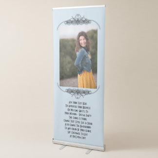 Banquete de boda o foto personalizado de la pancartas retráctiles