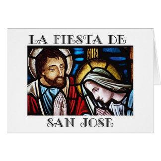 Banquete de Fiesta de San Jose de San José Tarjeta De Felicitación