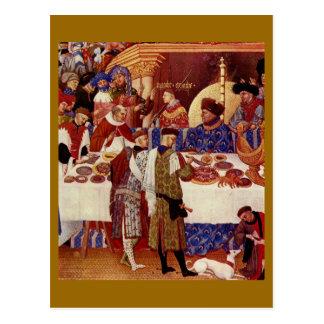 Banquete medieval postal
