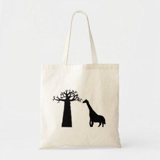 Baobab y jirafa bolso de tela