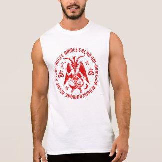 Baphomet con las cruces y los Pentagrams satánicos Camisetas Sin Mangas