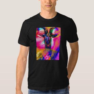 Baphomet psicodélico camisetas