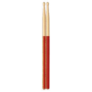 Baquetas Hoja de oro elegante y modelo rojo de la raya