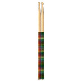 Baquetas Negro de la tela escocesa del arco iris