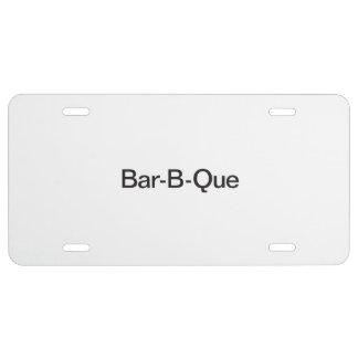 Bar-B-Que.ai Placa De Matrícula