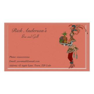 Bar y grill - señora africana tarjeta de visita