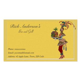 Bar y grill - señora africana plantilla de tarjeta de visita