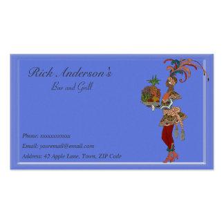 Bar y grill - señora africana plantilla de tarjeta de negocio