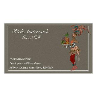 Bar y grill - señora africana plantillas de tarjetas de visita