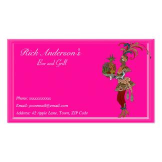 Bar y grill - señora africana tarjetas personales