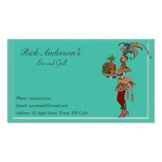 Bar y grill - señora africana tarjetas de negocios