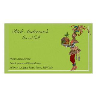 Bar y grill - señora africana tarjetas de visita