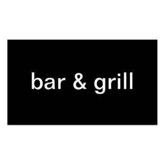 Bar y grill plantillas de tarjeta de negocio