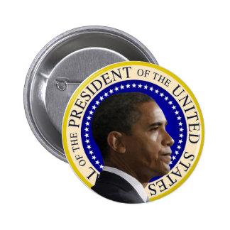 Barack Obama - botón presidencial del perfil
