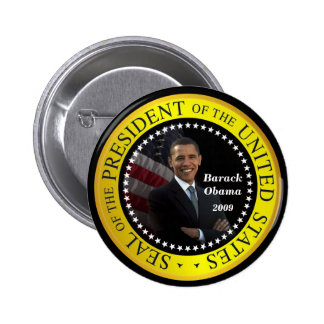 Barack Obama - botón presidencial del sello