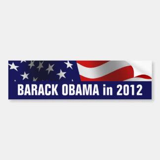 Barack Obama en 2012 Pegatina De Parachoque