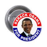 Barack Obama para el presidente Chapa Redonda De 5 Cm