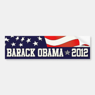 Barack Obama para el presidente en 2012 Pegatina Para Coche
