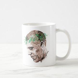 Barack Obama tipográfico Taza De Café