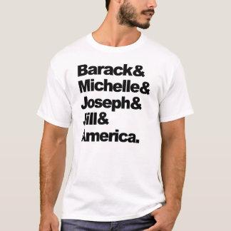 Barack y Michelle y José y Jill y América Camiseta