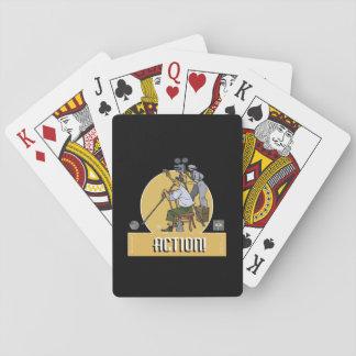 Baraja- Action Dibujante Baraja De Póquer