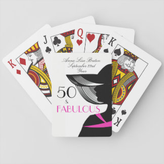 Baraja De Cartas 50 y cumpleaños elegante del art déco fabuloso