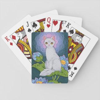 Baraja De Cartas Afirmación de Oracle de los gatos de la fantasía -