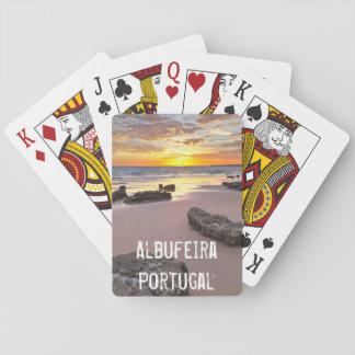 Baraja De Cartas Albufeira - Portugal. Vacaciones de verano en
