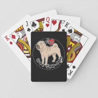 Baraja De Cartas Amo mi perro divertido y lindo adorable feliz de