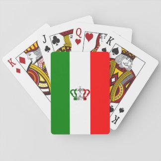 Baraja De Cartas Bandera moderna del italiano de Italia de la