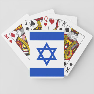 Baraja De Cartas Bandera nacional del mundo de Israel