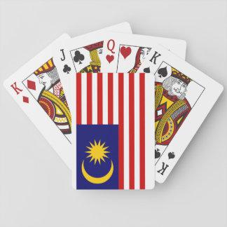 Baraja De Cartas Bandera nacional del mundo de Malasia