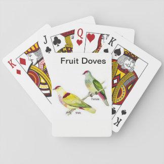 Baraja De Cartas Baraja de naipe con un par de palomas de la fruta