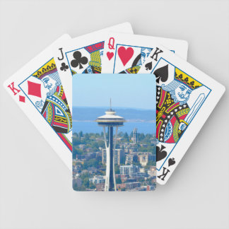 Baraja De Cartas Bicycle Aguja del espacio del horizonte de Seattle