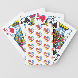 Baraja De Cartas Bicycle AmericanHeart - arco iris