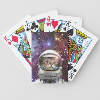 Baraja De Cartas Bicycle Astronauta del gato - gato loco - gato