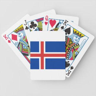 Baraja De Cartas Bicycle ¡Bajo costo! Bandera de Islandia